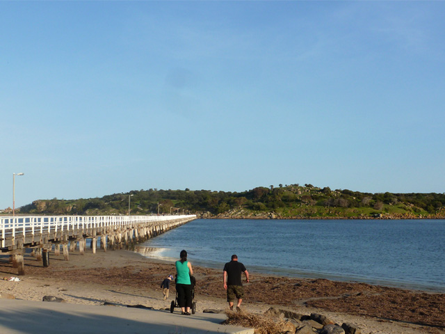 Granite Island causeway at Victor Harbor