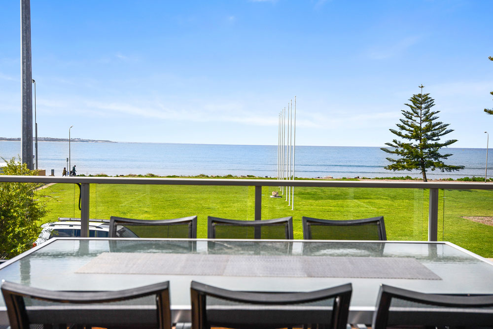 Enjoy a BBQ on the balcony overlooking the Victor Harbor foreshore